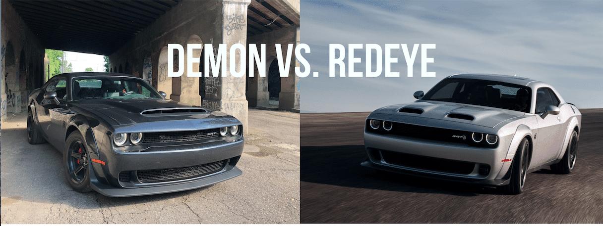 2018 Dodge SRT Demon vs. 2019 Dodge Challenger Redeye